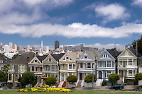 Alamo Square Postcard Row, San Francisco, California