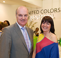 Anthony Ryan with  Lynn McLoughlin who is running the new United Colors of Benetton Store in Anthony Ryan's. Photo:Andrew Downes