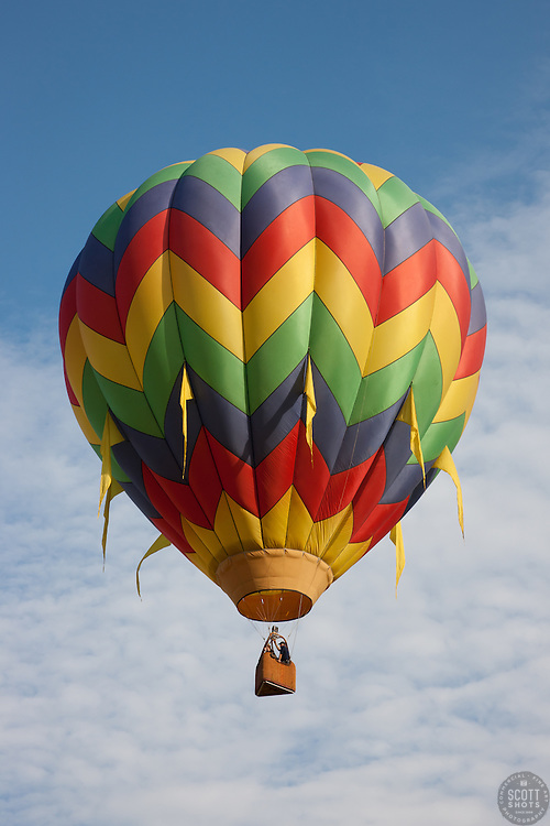 """""""Hot Air Balloon 1"""" - This hot air balloon was photographed during the 2011 Great Reno Balloon Race."""