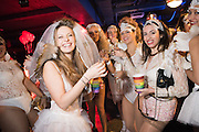 SARA AGOSTINI, LEFT; BRIDE, HEN NIGHT, LOST HEARTS , A VALENTINE'S MASQUERADE BALL 2016 at the Coronet Theatre,  Elephant and Castle, London. 12th February 2016
