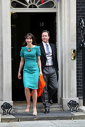 LOCATION, UK  29/04/2011. The Royal Wedding of HRH Prince William to Kate Middleton. .Prime Minister David Cameron and his wife Samantha Cameron leaving 10 Downing Street. .Photo credit should read CRAIG SHEPHEARD/LNP. Please see special instructions. © under license to London News Pictures