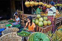 Myanmar (ex Birmanie), Province de Mon, Mawlamyine (Moulmein), le marche // Myanmar (Burma), Mon state, Mawlamyine (Moulmein), market