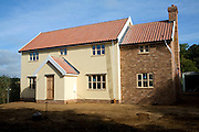 Newly built detached house, Shottisham, Suffolk, England