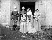 1952 - Wedding of Lieutenant Seamus Lillis and Miss Aureed Mundy