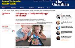 The Guardian; kids playing game on iPad