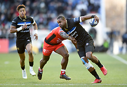 Aled Brew of Bath Rugby takes on the Toulon defence - Mandatory byline: Patrick Khachfe/JMP - 07966 386802 - 09/12/2017 - RUGBY UNION - Stade Mayol - Toulon, France - Toulon v Bath Rugby - European Rugby Champions Cup
