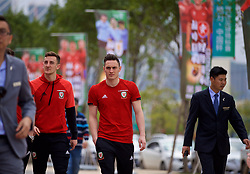 NANNING, CHINA - Wednesday, March 21, 2018: Wales' Connor Roberts during a team walk near the Wanda Realm Resort ahead of the 2018 Gree China Cup International Football Championship. (Pic by David Rawcliffe/Propaganda)