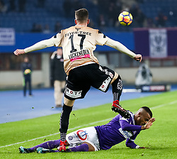 10.02.2018, Ernst Happel Stadion, Wien, AUT, 1. FBL, FK Austria Wien vs Lask, 22. Runde, im Bild Felix Luckeneder (LASK), Felipe Pires (FK Austria Wien) // during Austrian Football Bundesliga Match, 22nd Round, between FK Austria Vienna and Lask at the Ernst Happel Stadion, Vienna, Austria on 2018/02/10. EXPA Pictures © 2018, PhotoCredit: EXPA/ Alexander Forst