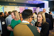 Collette Navarrette of Federal Realty Investment Trust socializes during the Silicon Valley Business Journal's Annual Silicon Valley Structures Awards event at the Fairmont San Jose in San Jose, California, on September 21, 2017. (Stan Olszewski for Silicon Valley Business Journal)