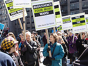 Protestors New York City No War on Iraq Protest March 22 2004