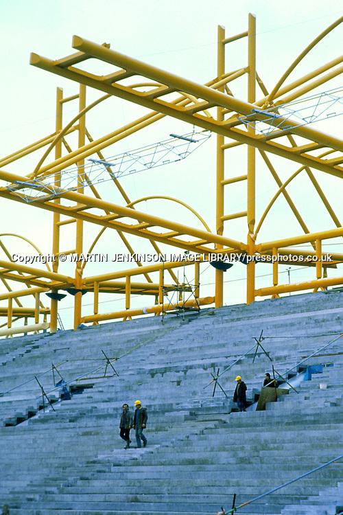 Construction of Don Valley Sports Stadium Sheffield ....
