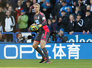 Huddersfield Town's Jonas Lössl  during the Premier League match between Huddersfield Town and West Bromwich Albion at the John Smiths Stadium, Huddersfield, England on 4 November 2017. Photo by Paul Thompson.