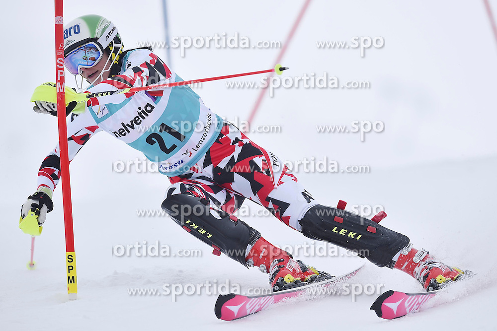 13.03.2016, Pista Silvano Beltrametti, Lenzerheide, SUI, FIS Weltcup Ski Alpin, Lenzerheide, Superkombination, Slalom, Damen, im Bild Mirjam Puchner (AUT) // during ladie's Supercombi, Slalom Race of Lenzerheide FIS Ski Alpine World Cup at the Pista Silvano Beltrametti in Lenzerheide, Switzerland on 2016/03/13. EXPA Pictures &copy; 2016, PhotoCredit: EXPA/ Freshfocus/ Manuel Lopez<br /> <br /> *****ATTENTION - for AUT, SLO, CRO, SRB, BIH, MAZ only*****