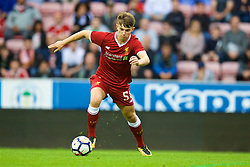 WIGAN, ENGLAND - Friday, July 14, 2017: Liverpool's Ben Woodburn in action against Wigan Athletic during a preseason friendly match at the DW Stadium. (Pic by David Rawcliffe/Propaganda)