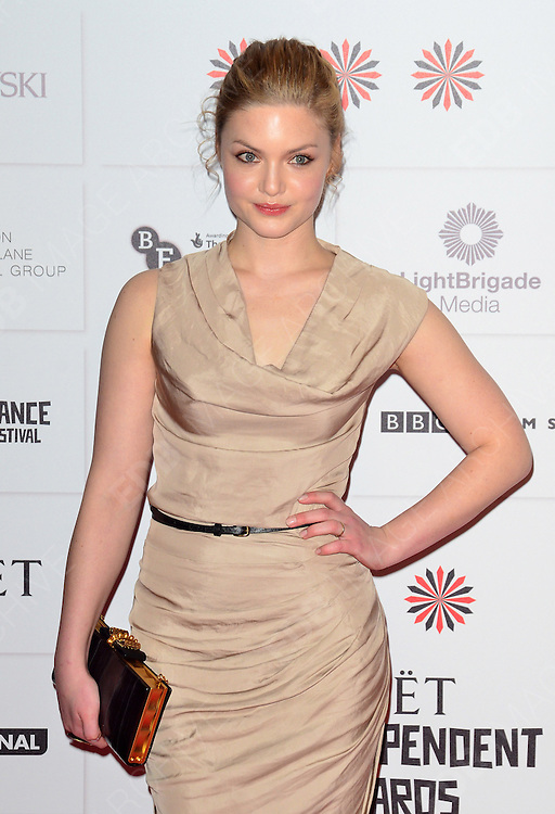 09.DECEMBER.2012. LONDON<br /> <br /> HOLLIDAY GRAINGER ATTENDS THE BRITISH INDEPENDENT FILM AWARDS AT OLD BILLINGSGATE MARKET. <br /> <br /> BYLINE: JOE ALVAREZ/EDBIMAGEARCHIVE.CO.UK<br /> <br /> *THIS IMAGE IS STRICTLY FOR UK NEWSPAPERS AND MAGAZINES ONLY*<br /> *FOR WORLD WIDE SALES AND WEB USE PLEASE CONTACT EDBIMAGEARCHIVE - 0208 954 5968*