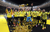 FUSSBALL      DFB POKAL FINALE       SAISON 2011/2012 Borussia Dortmund - FC Bayern Muenchen   12.05.2012 Kevin Grosskreutz, Sebastian Kehl, Torwart Roman Weidenfeller , Moritz Leitner , Shinji Kagawa (v. li., Borussia Dortmund)