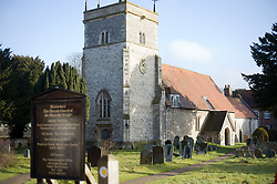 © under license to London News Pictures.  08/02/2011. Royal Wedding background picture. The Parish Church of St Mary The Virgin in the town of Bucklebury, West Berkshire UK, home to the future Queen of England Kate Middleton, who will marry Prince William on Friday 29 April at Westminster Abbey. Photo credit should read: London News Pictures