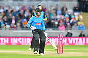 Wicket - Phil Salt of Sussex is run out during the final of the Vitality T20 Finals Day 2018 match between Worcestershire Rapids and Sussex Sharks at Edgbaston, Birmingham, United Kingdom on 15 September 2018.