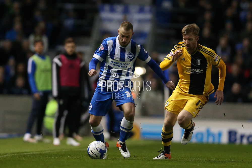 Brighton striker Jiri Skalak (38) during the Sky Bet Championship match between Brighton and Hove Albion and Fulham at the American Express Community Stadium, Brighton and Hove, England on 15 April 2016.