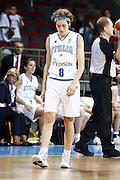 DESCRIZIONE : Riga Latvia Lettonia Eurobasket Women 2009 final 5th-6th Place Italia Grecia Italy Greece<br /> GIOCATORE : Simona Ballardini<br /> SQUADRA : Italia Italy<br /> EVENTO : Eurobasket Women 2009 Campionati Europei Donne 2009 <br /> GARA : Italia Grecia Italy Greece<br /> DATA : 20/06/2009 <br /> CATEGORIA : delusione<br /> SPORT : Pallacanestro <br /> AUTORE : Agenzia Ciamillo-Castoria/E.Castoria<br /> Galleria : Eurobasket Women 2009 <br /> Fotonotizia : Riga Latvia Lettonia Eurobasket Women 2009 final 5th-6th Place Italia Grecia Italy Greece<br /> Predefinita :
