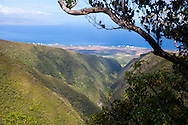 The monthly rain gague hike at the Pu'u Kukui Watershed Preserve, the largest privately held nature preserve in the state of Hawaii, owned by Maui Land and Pineapple.  Off in the distance is the Kaanapali development and the island of Lanai