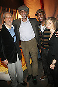 l to r: Gary Bartz, Gil Scott-Heron, Talib Kweli and Jill Newman backstage at The National Black Writers Conference Concert Presents Gil Scott Heron, Talib Kweli & Gary Bartz Produced by Jill Newman Productions and held at Littlefield on March 27, 2010 in Brooklyn, New York. Terrence Jennings/Retna, Ltd..**exclusive**