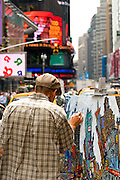 Painter at Times Square,Manhattan,New York U.S.A.,