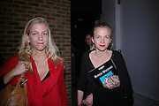 Tatiana and Irina van der Pahlen.  Blood Wedding Post - performance party. Count Christophe Gollut's annual fundraising Gala for the Almeida. Islington. London. 17 May 2005. ONE TIME USE ONLY - DO NOT ARCHIVE  © Copyright Photograph by Dafydd Jones 66 Stockwell Park Rd. London SW9 0DA Tel 020 7733 0108 www.dafjones.com