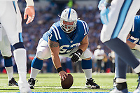 September 28, 2014: Indianapolis Colts center A.Q. Shipley (63) during a football game between the Indianapolis Colts and Tennessee Titans at Lucas Oil Stadium in Indianapolis, IN. NFL American Football Herren USA SEP 28 Titans at Colts PUBLICATIONxINxGERxSUIxAUTxHUNxRUSxSWExNORxONLY Icon1409280178<br /> <br /> September 28 2014 Indianapolis Colts Center A Q Shipley 63 during A Football Game between The Indianapolis Colts and Tennessee Titans AT Lucas Oil Stage in Indianapolis in NFL American Football men USA Sep 28 Titans AT Colts PUBLICATIONxINxGERxSUIxAUTxHUNxRUSxSWExNORxONLY Icon1409280178