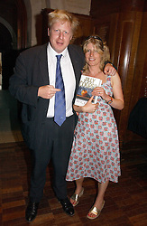 BORIS JOHNSON MP and his sister RACHEL at a party to celebrate the publication of Wicked - A Tale of Two Schools by Jilly Cooper held at Westminster School, Dean's Yard, London on 11th May 2006.<br />