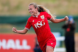 Claire Emslie of Bristol City Women celebrates scoring a goal to make it 2-1 - Mandatory byline: Rogan Thomson/JMP - 09/07/2016 - FOOTBALL - Stoke Gifford Stadium - Bristol, England - Bristol City Women v Milwall Lionesses - FA Women's Super League 2.