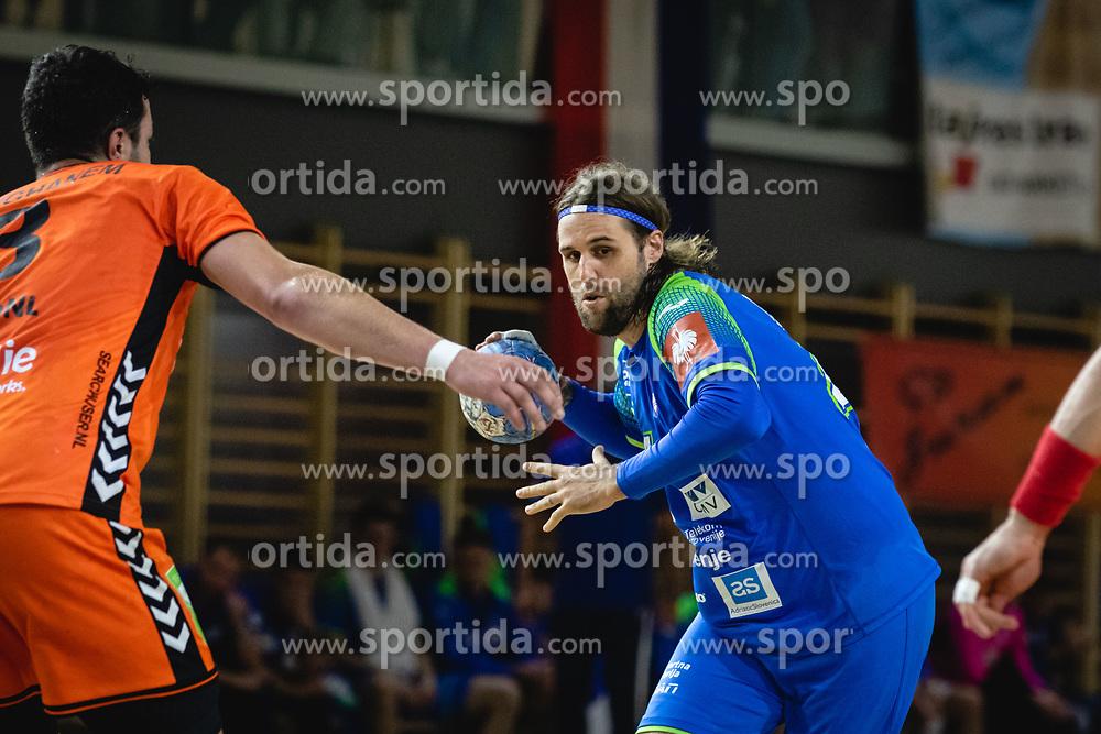 Dean Bombač of Slovenia during friendly handball match between Slovenia and Nederland, on October 25, 2019 in Športna dvorana Hardek, Ormož, Slovenia. Photo by Blaž Weindorfer / Sportida