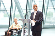Sadiq Khan, Mayor launches a search for the first ever London Borough of Culture at a ceremony at City Hall, London, Great Britain <br /> 30th June 2017 <br /> <br /> <br /> Justine Simons OBE, Deputy Mayor for Culture and the Creative Industries <br /> <br /> <br /> <br /> Sadiq Khan, Mayor London <br /> <br /> <br /> <br /> Photograph by Elliott Franks <br /> Image licensed to Elliott Franks Photography Services