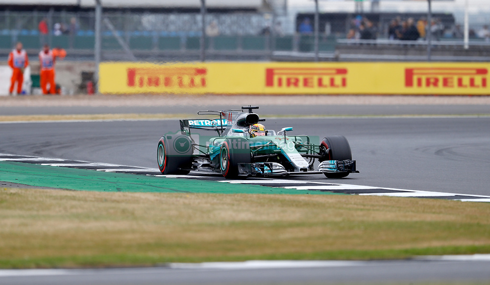 Mercedes' Lewis Hamilton during third practice of the 2017 British Grand Prix at Silverstone Circuit, Towcester.