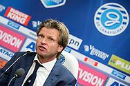 27-09-2015 VOETBAL: DE GRAAFSCHAP - WILLEM II:DOETINCHEM<br /> <br /> Trainer/Coach Jan Vreman van De Graafschap tijdens de persconferentie <br /> <br /> Foto: Geert van Erven