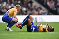 Football - 2018 / 2019 Sky Bet EFL League Two - MK Dons vs. Mansfield<br /> <br /> Mansfield Town's Jacob Mellis and Neal Bishop both injured in the first half, at Stadium MK.<br /> <br /> COLORSPORT/ASHLEY WESTERN