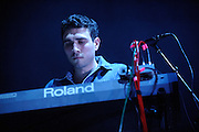 Photos of the band Penguin Prison performing at the Pageant in St. Louis in support of Girl Talk on January 18, 2011.
