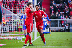 23.02.2019, Allianz Arena, Muenchen, GER, 1. FBL, FC Bayern Muenchen vs Hertha BSC, 23. Runde, im Bild Javi Martinez (FC Bayern Muenchen) jubelt nach seinem Tor zum 1:0 // during the German Bundesliga 23th round match between FC Bayern Muenchen and Hertha BSC at the Allianz Arena in Muenchen, Germany on 2019/02/23. EXPA Pictures © 2019, PhotoCredit: EXPA/ Eibner-Pressefoto/ Tom Weller<br /> <br /> *****ATTENTION - OUT of GER*****