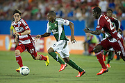 FRISCO, TX - JUNE 26:  Darlington Nagbe #6 of the Portland Timbers breaks away from the FC Dallas defense  on June 26, 2013 at FC Dallas Stadium in Frisco, Texas.  (Photo by Cooper Neill/Getty Images) *** Local Caption *** Darlington Nagbe