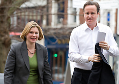 David Cameron with Justine Greening