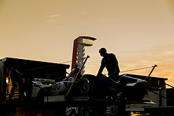 March 22, 2019 - Austin, Texas, U.S. - The AJ Foyt Racing crew unpack their cars before the first practice of the INDYCAR Classic at Circuit Of The Americas in Austin Texas. (Credit Image: © Walter G Arce Sr Asp Inc/ASP)