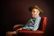 World War II digger Frank Hazleman. Photo by Luke Hemer.