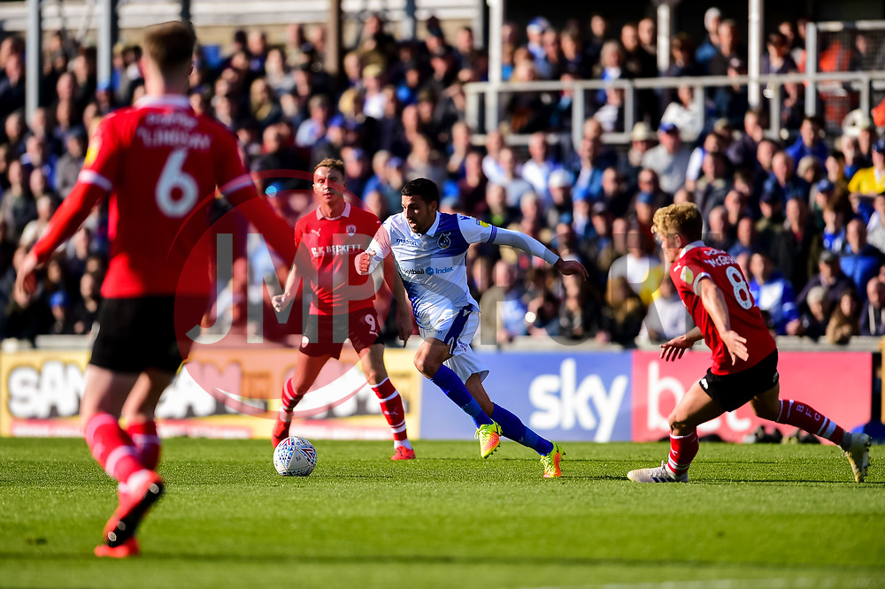 Liam Sercombe of Bristol Rovers is marked by Cameron McGeehan of Barnsley - Mandatory by-line: Ryan Hiscott/JMP - 04/05/2019 - FOOTBALL - Memorial Stadium - Bristol, England - Bristol Rovers v Barnsley - Sky Bet League One