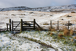 © Licensed to London News Pictures. 12/03/2020. Brecon Beacons, Powys, Wales, UK. Bitterly cold conditions in the Brecon Beacons National Park, Powys, Wales, UK. after snow fell on high land in Powys last night. Photo credit: Graham M. Lawrence/LNP