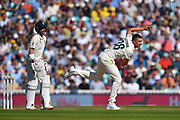 Josh Hazlewood of Australia bowling during the 5th International Test Match 2019 match between England and Australia at the Oval, London, United Kingdom on 14 September 2019.