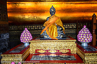 In the Temple of the Reclining Buddha, Wat Pho, Bangok, Thailand