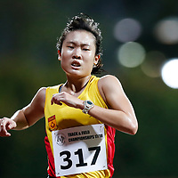 Jillian See of Singapore Polytechnic in action during the women's 5000m event. (Photo &copy; Lim Yong Teck/Red Sports) The 2018 Institute-Varsity-Polytechnic Track and Field Championships were held over three days in January.<br />
