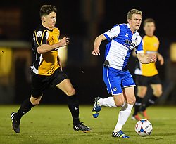 Bristol Rovers' Lee Mansell in action against Gateshead - Photo mandatory by-line: Paul Knight/JMP - Mobile: 07966 386802 - 19/12/2014 - SPORT - Football - Bristol - The Memorial Stadium - Bristol Rovers v Gateshead - Vanarama Conference