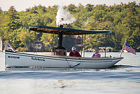"The steamboat ""Valcherie"" makes her way out of Lees Mill on Lake Winnipesaukee.  (Karen Bobotas Photographer)"