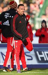 15.01.12, Erfurt, Steigerwaldstadion, GER, 3.Liga, Freundschaftsspiel, FC Rot Weiss Erfurt vs FC Bayern München im Bild Franck Ribery (Bayern) bei der Erwärmung // during the friendly match between FC Rot Weiss Erfurt and FC Bayern Munich, Erfurt Germany on 12/01/15. EXPA Pictures © 2012, PhotoCredit: EXPA/ nph/ Hessland..***** ATTENTION - OUT OF GER, CRO *****